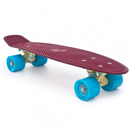 skateboard mini longboard Baby Miller Old is Cool wine red