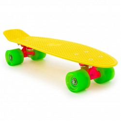 skateboard mini longboard Baby Miller Original fluor yellow